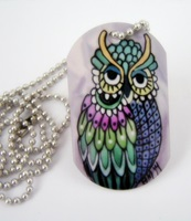 Piper Owl Dog Tag Necklace