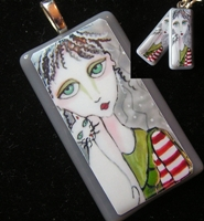 Peppermint Patti Pendant and Earring Set