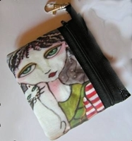 Peppermint Patti Zippered Pouch