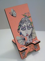 Petals Painted Lady Phone Stand Docking Station