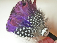 Purple SNOOKS Feather Headband