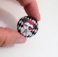 Queen Of Hearts 1 inch Magnet