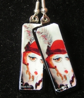 Red Hat Lady Earrings