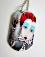 Red Queen Dog Tag Necklace