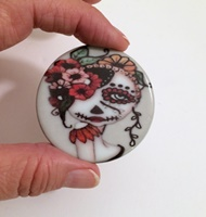 2 inch Round Day Of The Dead 19 Cab