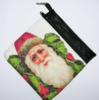 Santa 1 Zippered Pouch