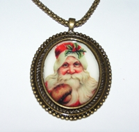 Santa 1 Cameo Necklace