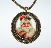 Santa 1 Cameo Necklace