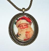 Santa 2 Cameo Necklace