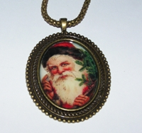 Santa 3 Cameo Necklace