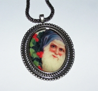 Santa 4 Cameo Necklace
