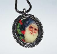 Santa 4 Cameo Necklace