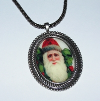 Santa 6 Cameo Necklace