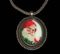 Santa 7 Cameo Necklace