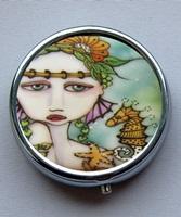 Mermaids and Seahorse Pill Box