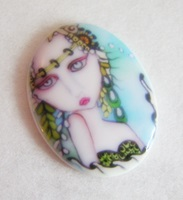 Sea Mist Mermaid Cameo