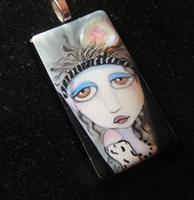 Sister Of The Moon Glass Pendant
