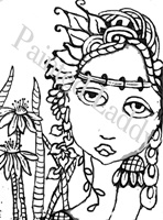 Spring Goddess Coloring Page