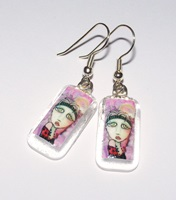Strawberry Fields Forever Clear Glass Earrings