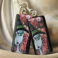Tequila Sunrise Witch Earrings