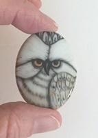 White Owl Cameo