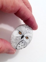 White Owl Porcelain Cameo